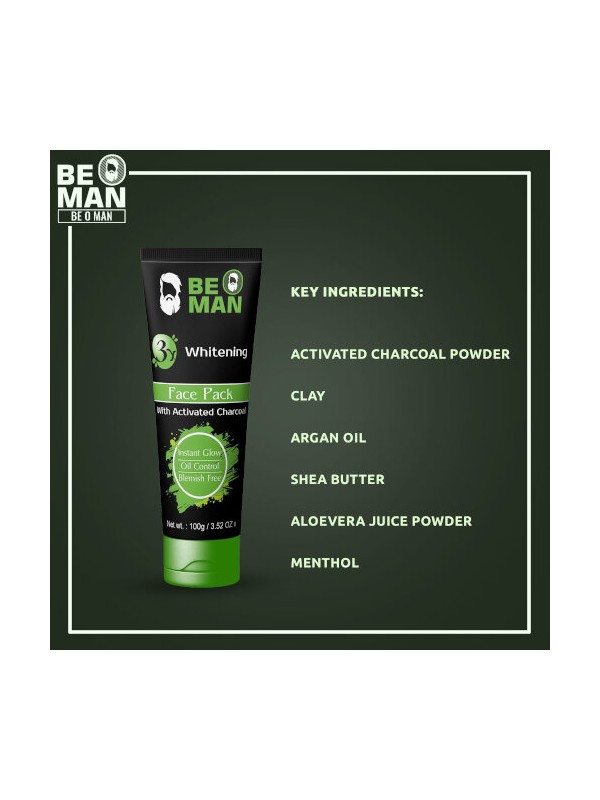 Be O Man Charcoal Face Pack 100 gm
