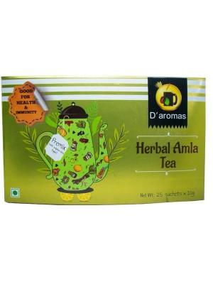 D'Aromas Herbal Amla Tea 25 Sachet Premix