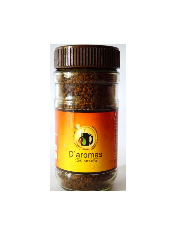 D'Aromas Pure Coffee 100gm Bottle