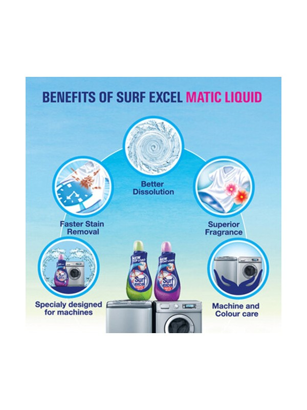 Surf Excel Matic Top Load Liquid Detergent 1.2L