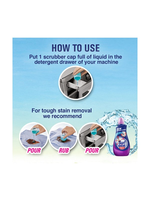 Surf Excel Matic Front Load Liquid Detergent 1.2L