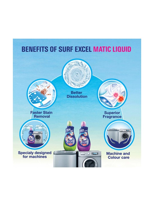 Surf Excel Matic Liquid Detergent Top Load 500ml