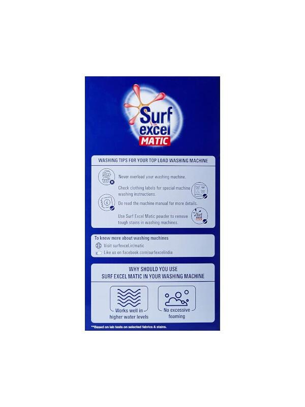 Surf Excel Matic Top Load Detergent Powder 6kg