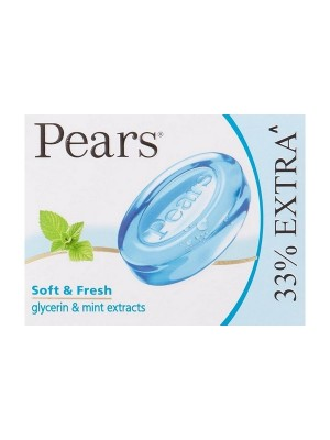 Pears Soft and Fresh Soap Bar 75g with Free Bar 25 g