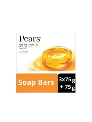 Pears Pure & Gentle Soap Bar (3 X 75 g + 75 g) Buy 3 Get 1 Free