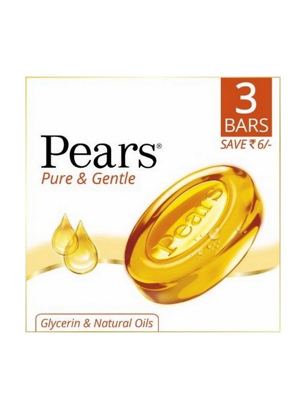 Pears Pure & Gentle Soap Bar3x125 gm