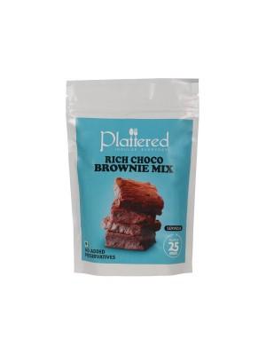 Plattered Rich Choco Brownie Mix 380 gm