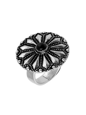 Queen Be  Oxidised Chakra Cocktail Ring
