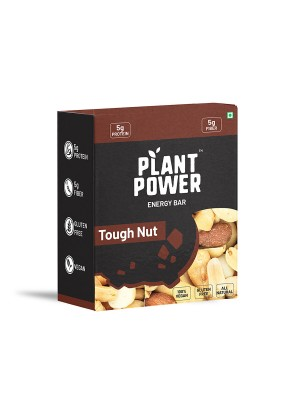 Plant Power Energy Bar with 5 gm Protein - Tough Nut (35g x 6)