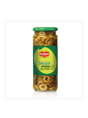 Del Monte Green Sliced Olives 450 gm