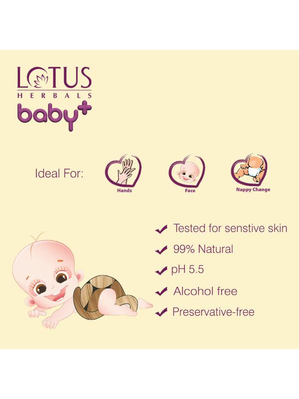 Lotus Baby Plusgentle & Refereshing Baby Wipes 24 Pcs