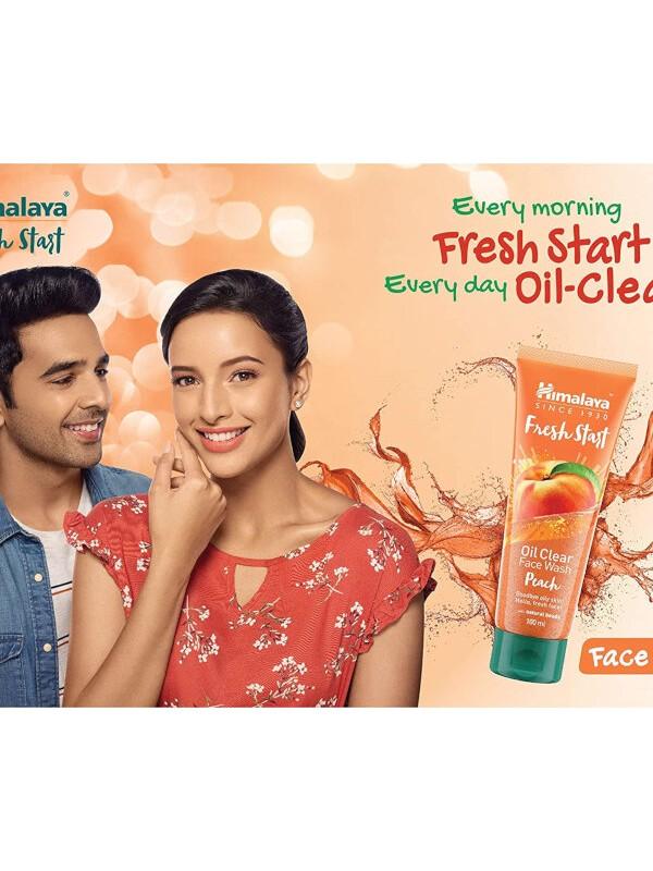 Himalaya Fresh Start Oil Clear Face Wash (Peach) 200 ml