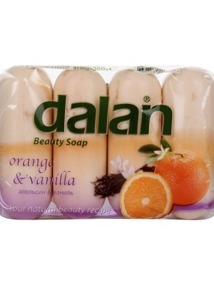 Dalan Beauty Soap - Orange & Vanilla (90 gm X 4)