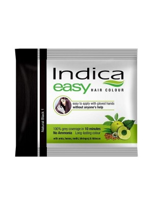 Indica Easy Hair Colour Natural Black (25 ml)
