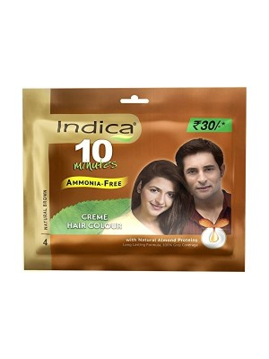 Indica Hair Colour - Natural Brown (20 ml)