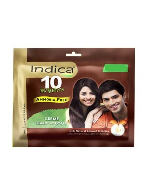 Indica Creme Hair Colour Darkest Brown (20 gm)