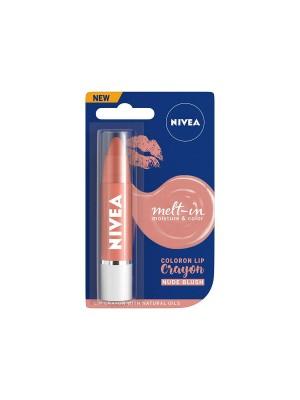 Nivea Lip Crayon Coloron Nude Blush Lip Balm