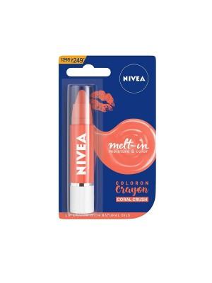 Nivea Lip Crayon Coloron Coral Crush Lip Balm