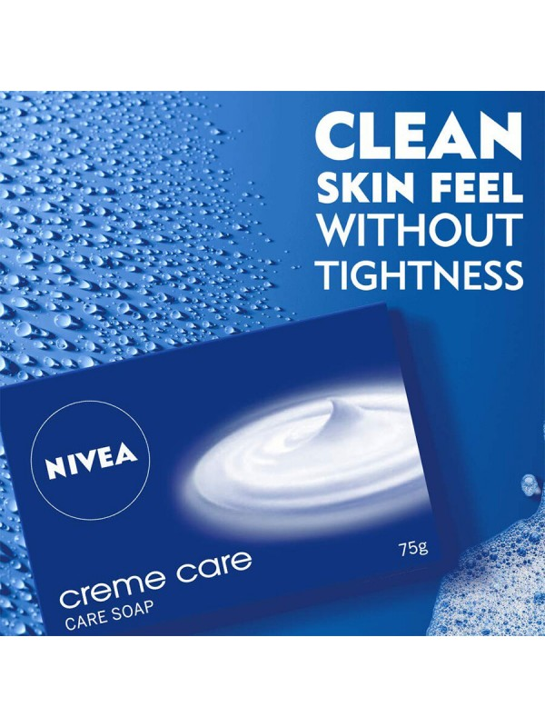 Nivea Soap Cream Care For Hands And Body 75 gm (2 Pieces)