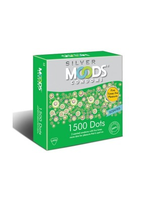 Moods 1500 Dots Silver Condoms 3'S