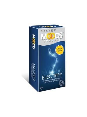 Moods Silver Condoms - 12 Condoms (Electrify)