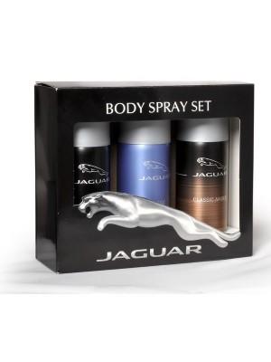 Jaguar Classic Amber + Classic + Classic Black Deo Combo Set - Pack of 3 For Men