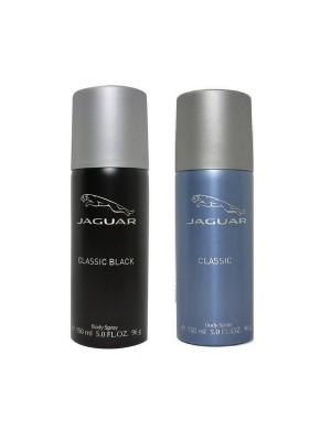 Jaguar Classic Black + Classic Deo Combo Set - Pack of 2 For Men