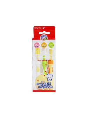 Pigeon Training Toothbrush Lession 123 Set (Multicolor)