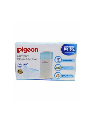 Pigeon Compact Steam Sterilizer - 2 Slots (White)