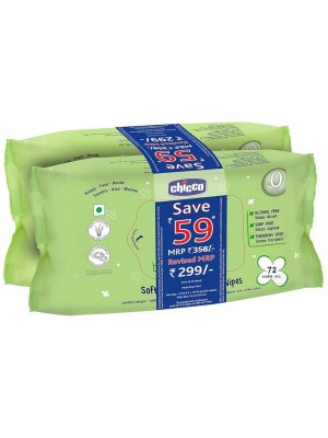 Chicco Baby Wipes Sticker Bipack 144 In