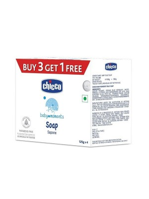 Chicco Soap Baby Moments 125 gm Buy 3 Get 1 Free