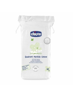 Chicco Soft Cotton Squares 60 Pieces Baby Moments