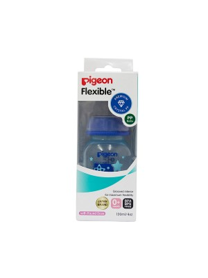 Pigeon Peristaltic Clear Nursing Bottle RPP 120 ml (Blue) Boy