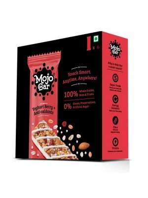 Mojo Bar Yoghurt Berry + Anti Oxidants (Pack of 6)