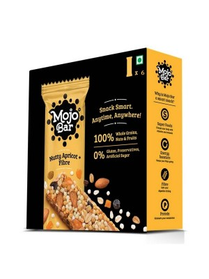 Mojo Bar Nutty Apricot + Fibre (Pack of 6)