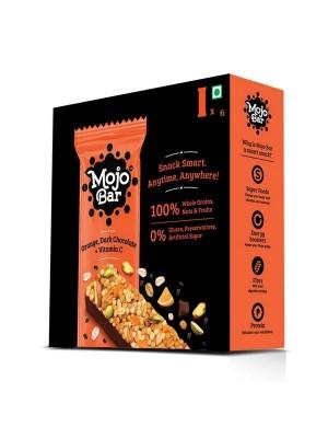 Mojo Bar Orange Dark Chocolate + Vitamin C (Pack of 6)