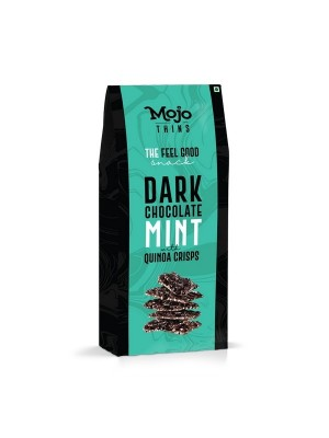 Mojo Thins Dark Chocolate Mint with Quinoa Crisps 100 Gm