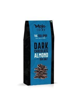 Mojo Thins Dark Chocolate Almond with Sea Salt 100 Gm