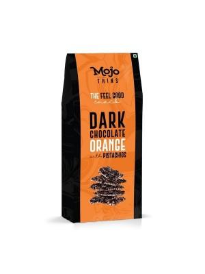 Mojo Thins Dark Chocolate Orange with Pistachios 100 Gm