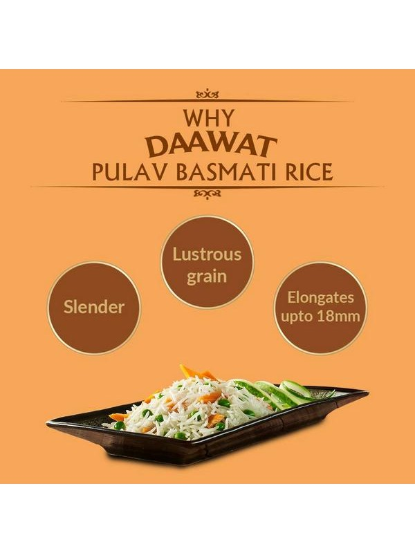 Daawat Pulav Basmati Rice 5 kg