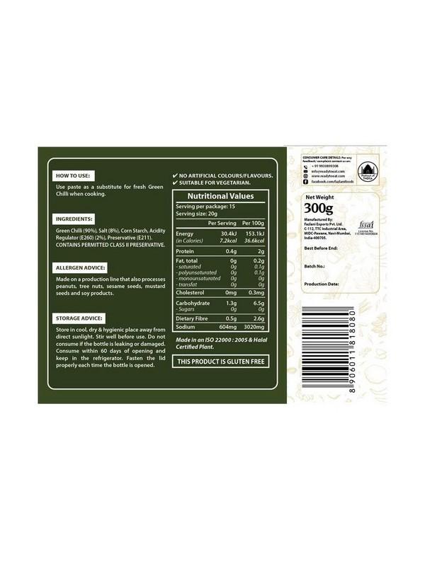 Fazlani Foods Green Chilli Paste 300 gm