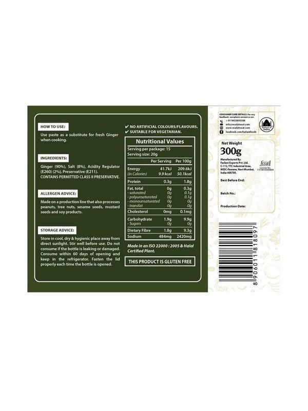 Fazlani Foods Ginger Paste 300 gm