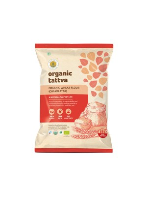 Organic Tattva Organic Whole Wheat Flour (Chakki Atta) 5 kg