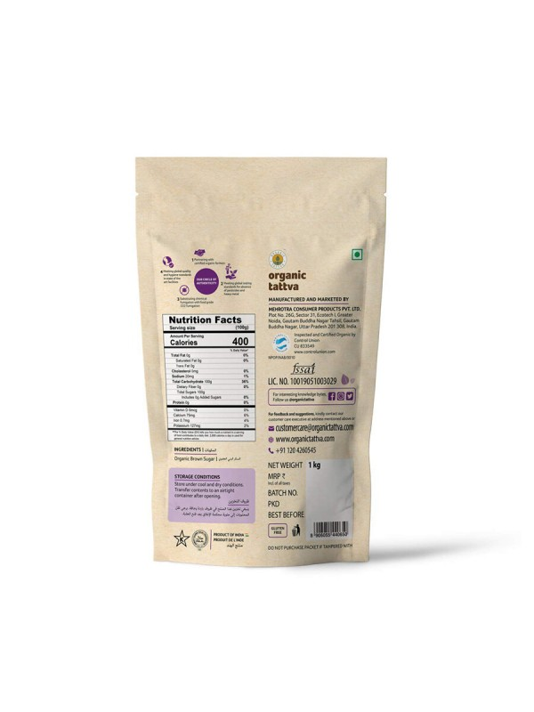Organic Tattva Organic Brown Sugar 1 kg
