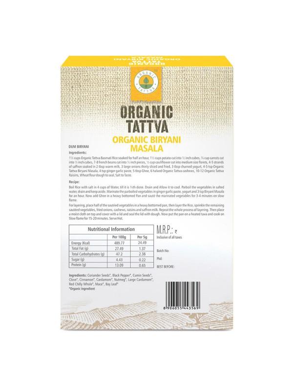Organic Tattva Organic Biryani Masala 100 gm
