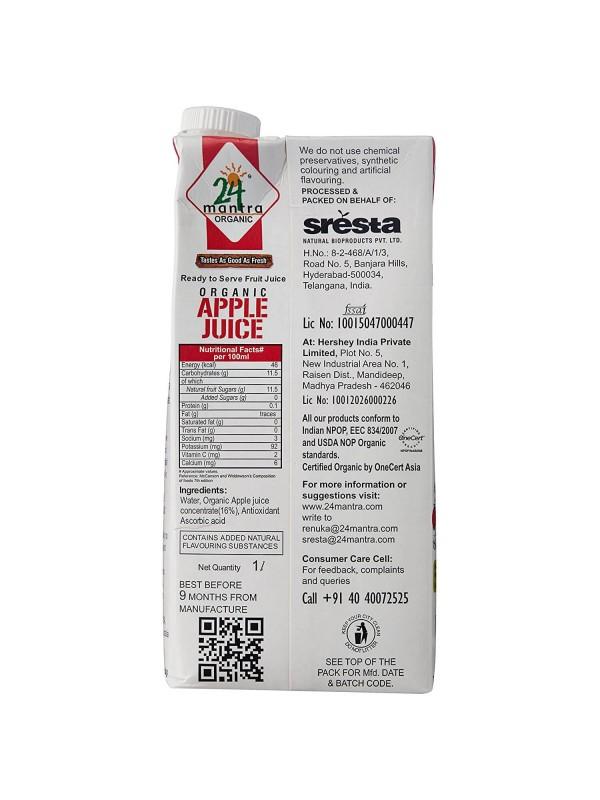 24 Mantra Apple Juice 1 ltr