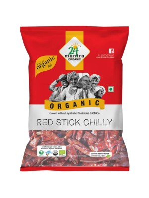 24 Mantra Red Stick Chilly 100 gm
