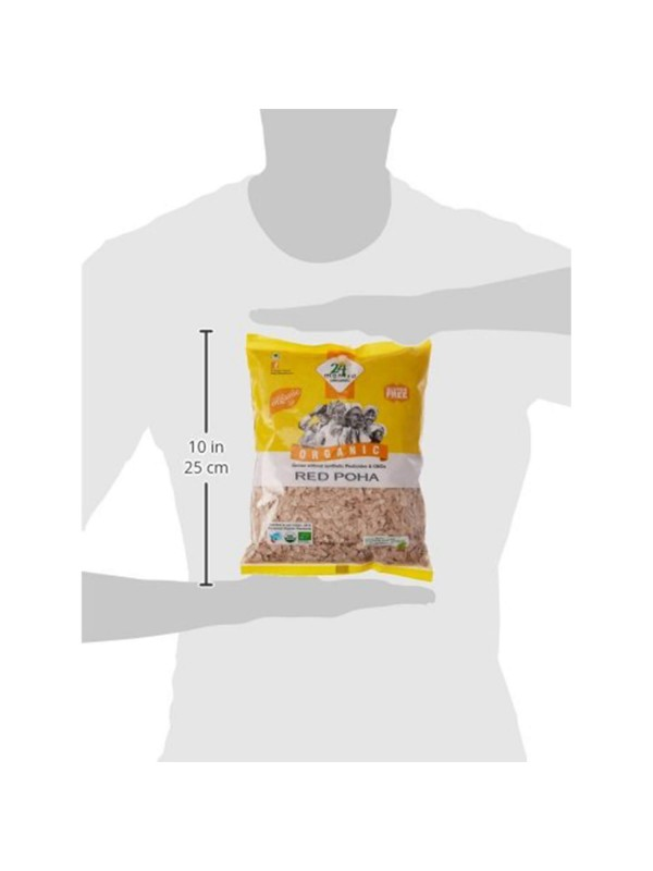 24 Mantra Red Poha (Flattened Rice) 500 gm