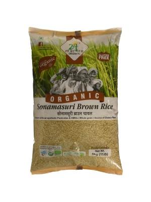 24 Mantra Sonamasuri Raw Rice Brown Orga 5 kg