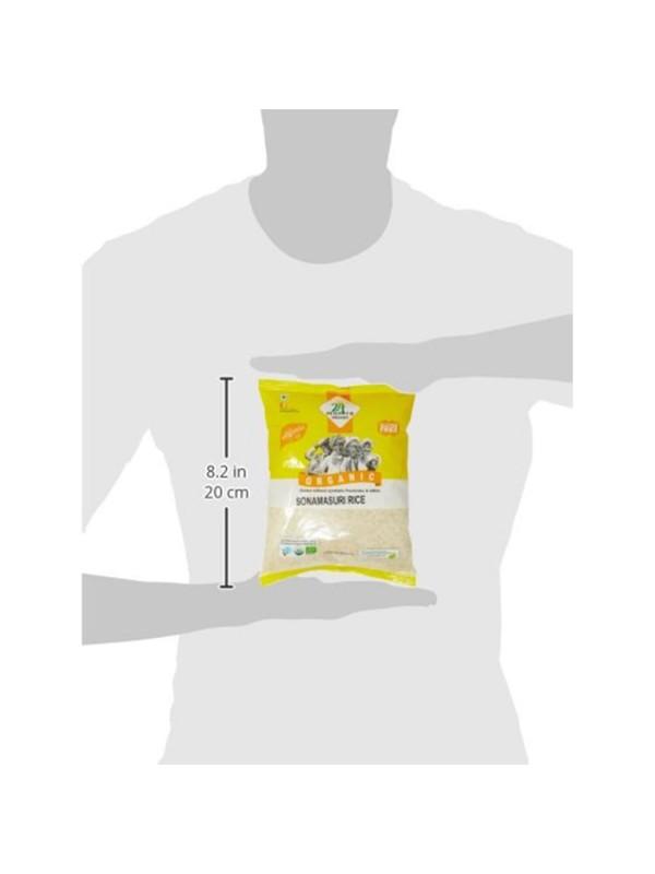 24 Mantra Sonamasuri Raw Rice Polished 1 kg